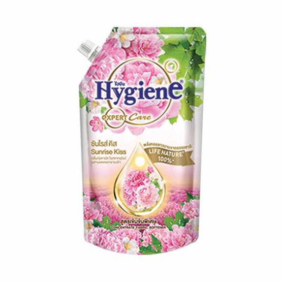 ไฮยีน ปรับผ้านุ่มเข้นข้น กลิ่นซันไรส์ คิส สีชมพู 540 มล.
