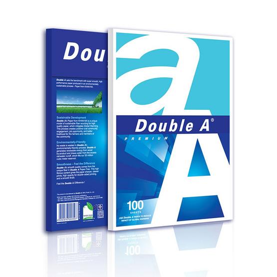 Double A กระดาษถ่ายเอกสาร 80 แกรม (แพ็ค100แผ่น)