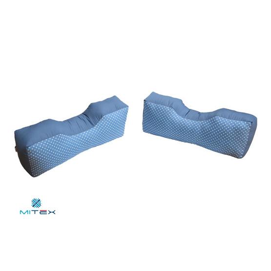 Mitex หมอน ก-ข-ค (สำหรับ ก้น-ขา-คอ) ขนาด 14 x 17 x 4.5 นิ้ว คละสีและคละลาย