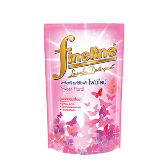ไฟน์ไลน์ ผลิตภัณฑ์ซักผ้าชนิดน้ำ กลิ่นสวีท ฟลอรอล สีชมพู 750 มล.