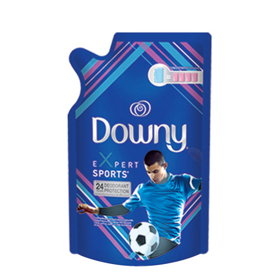 Downy น้ำยาปรับผ้านุ่ม สูตรสปอร์ต 540 มล. ถุงเติม สีน้ำเงิน