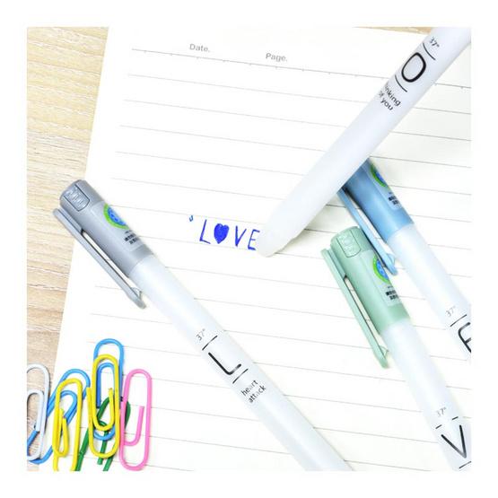Aihao 862A ปากกาเจลลบได้ ลายLOVE คละสี (แพ็ก4ด้าม)