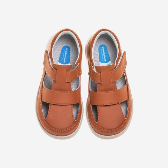 Little Blue Lamb รองเท้าสีน้ำตาล