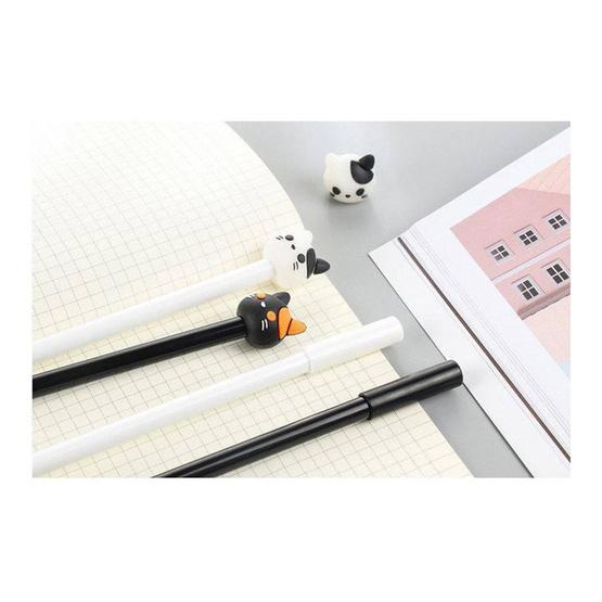 GLORIOUS ปากกาเจล Cat Black&White คละสี คละแบบ (กล่อง 42 ด้าม)