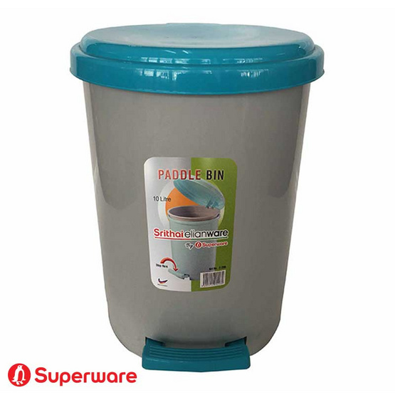 Srithai Superware ถังขยะพร้อมที่เหยียบเปิดปิดรุ่น E-296 ขนาด 10 ลิตร