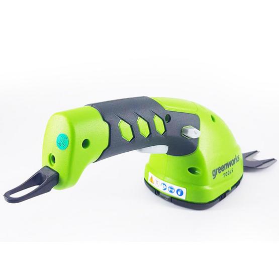 Greenworks เครื่องเล็มหญ้าและเล็มพุ่มไม้ 7.2 V - สีเขียว
