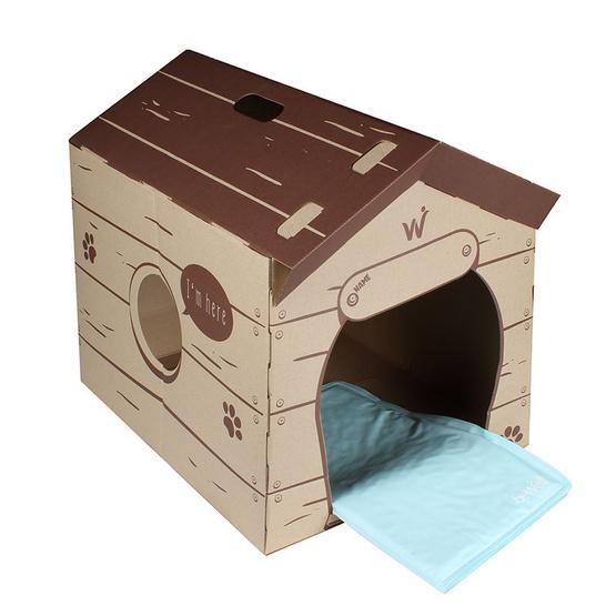 Bewell แผ่นรองเย็นสัตว์เลี้ยง รุ่น S-07 สีฟ้า ฟรีบ้านกระดาษ