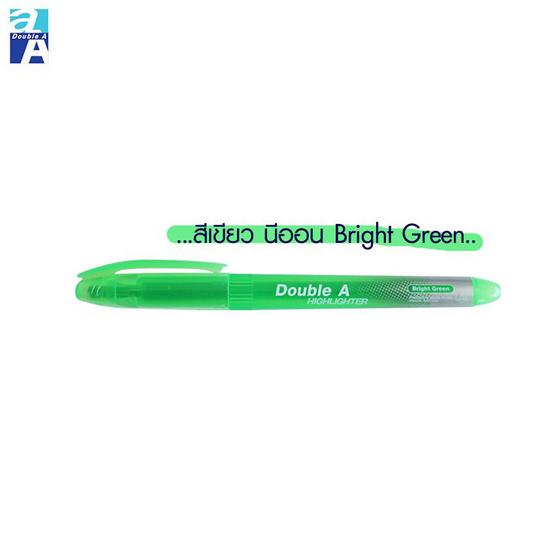 Double A ปากกาเน้นข้อความBright Color คละสีนีออน(แพ็ค5ด้าม)