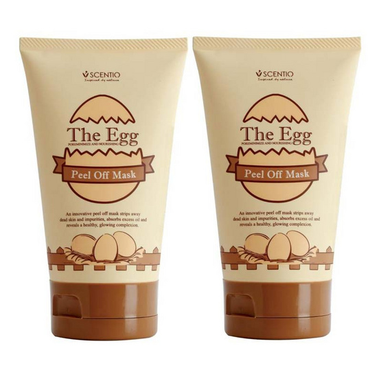 BEAUTY BUFFET SCENTIO THE EGG PEEL OFF MASK (Pack 2)