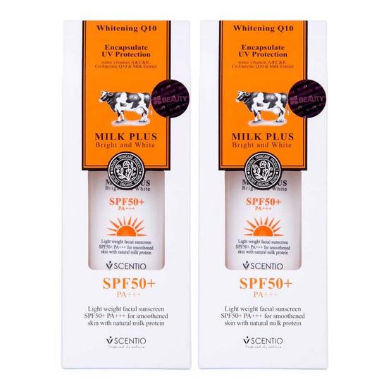 BEAUTY BUFFET SCENTIO MILK PLUS ENCAPSULATE UV PROTECTION SPF50+ PA+++ (Pack 2)