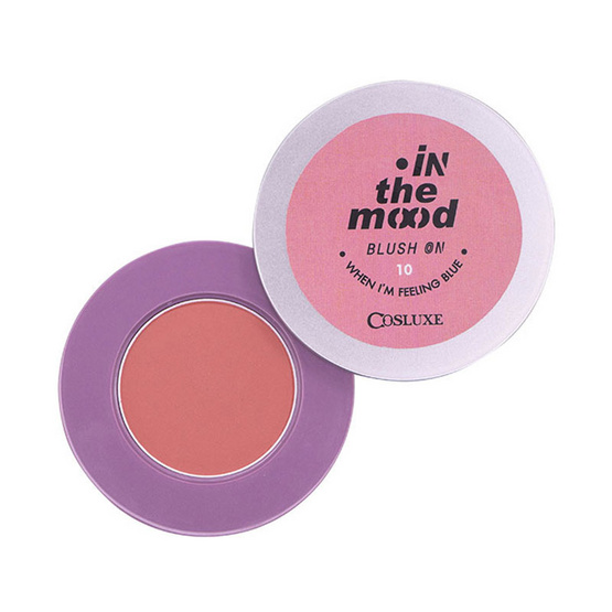 COSLUXE IN THE MOOD BLUSH ON NO.010 WHEN I'M FEELING BLUE 2 g บลัชออนเนื้อแมท