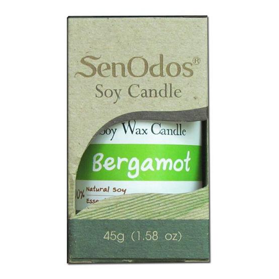 SenOdos เทียนหอมปรับอากาศ กลิ่นมะกรูด (Bergamot) 45 กรัม