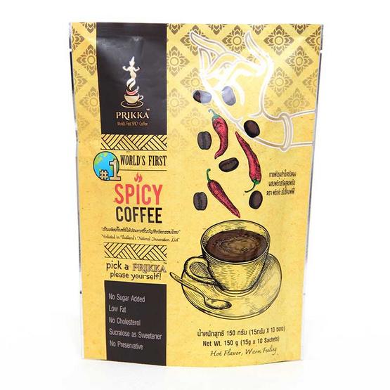 พริกค่ะ สไปซี่คอฟฟี่ กาแฟปรุงสำเร็จชนิดผงผสมพริกสกัดสูตรพลัส 15 กรัม