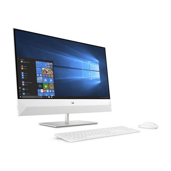 HP All In One คอมพิวเตอร์ตั้งโต๊ะ HP AIO 27-xa0083d Touch White