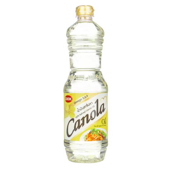 กุ๊ก น้ำมันคาโนลา 1 ลิตร  (แพ็ค 2 ขวด)