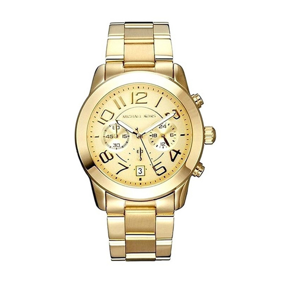 Michael kors นาฬิกา Mercer Chronograph Champagne Dial Ladies Watch