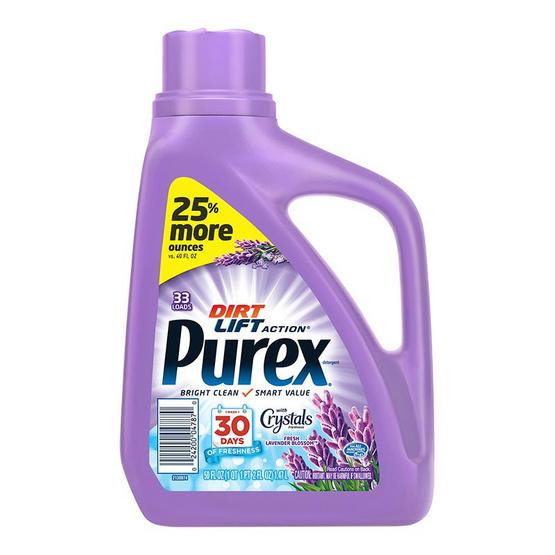 Purex เพียวเร็กซ์ น้ำยาซักผ้าผสมน้ำยาปรับผ้านุ่ม กลิ่นเฟรชลาเวนเดอร์ บลอสซั่ม 1.48 ลิตร