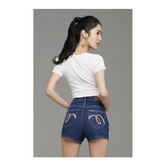 Mc Jeans กางเกงยีนส์ขาสั้น Mc x Peak รุ่น MAJZ010 Blue