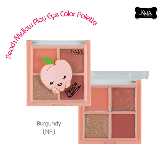 KMA Peach Mellow Play Eye Color Palette #NR Burgundy