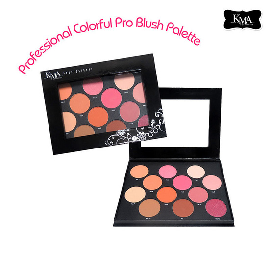 KMA Professional Colorful Pro Blush Pallete บรัชพาเลท