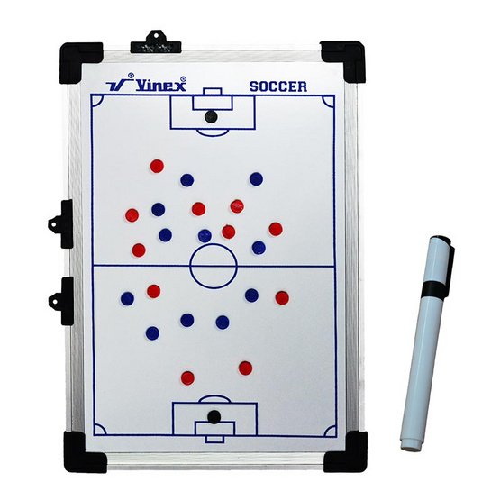 VIVA กระดานพลาสติกวางแผนฟุตบอล ขนาด 45x30 ซม. สีขาว