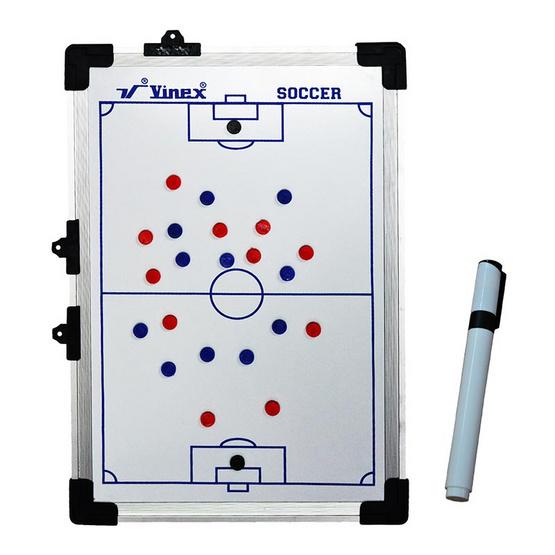 VIVA กระดานพลาสติกวางแผนฟุตบอล ขนาด 90x60 ซม. สีขาว