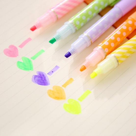 Aihao 6410 ปากกาไฮไลท์แฟนซี (แพ็ค6สี 6ด้าม)