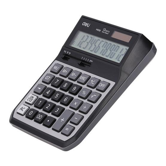 Deli M00820 เครื่องคิดเลขตั้งโต๊ะ 12 หลักขนาดใหญ่
