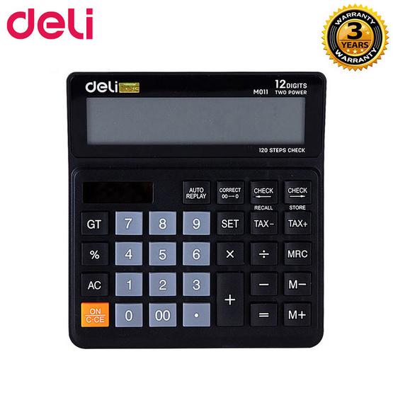 Deli M01120 เครื่องคิดเลขTaxแบบตั้งโต๊ะ 12 หลัก