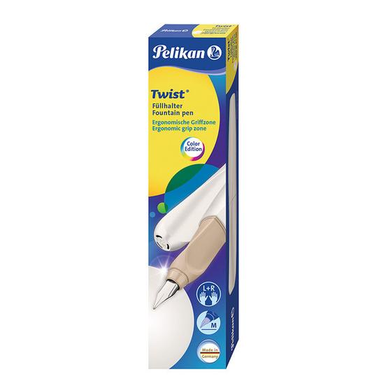 Pelikan ปากกาหมึกซึม TWIST White Pearl (แถมฟรี! หมึกหลอด 2 กล่อง)