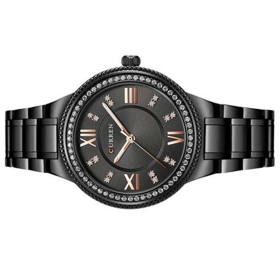 Curren นาฬิกาข้อมือผู้หญิง รุ่น C9004 ดำ
