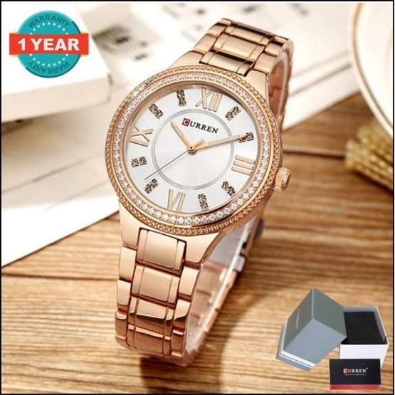 Curren นาฬิกาข้อมือผู้หญิง รุ่น C9004 โรสโกลด์