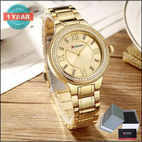 Curren นาฬิกาข้อมือผู้หญิง รุ่น C9004 ทอง