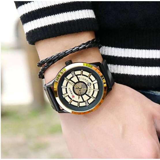 Curren นาฬิกาข้อมือผู้ชาย รุ่น C8330  ทอง/ดำ