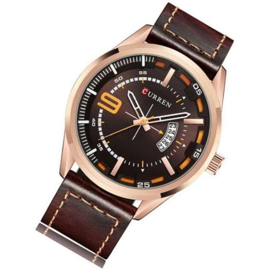 Curren นาฬิกาข้อมือผู้ชาย รุ่น C8295 น้ำตาล/ทอง