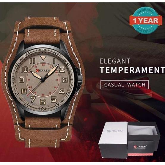 Curren นาฬิกาข้อมือผู้ชาย รุ่น C8279  น้ำตาล/น้ำตาล