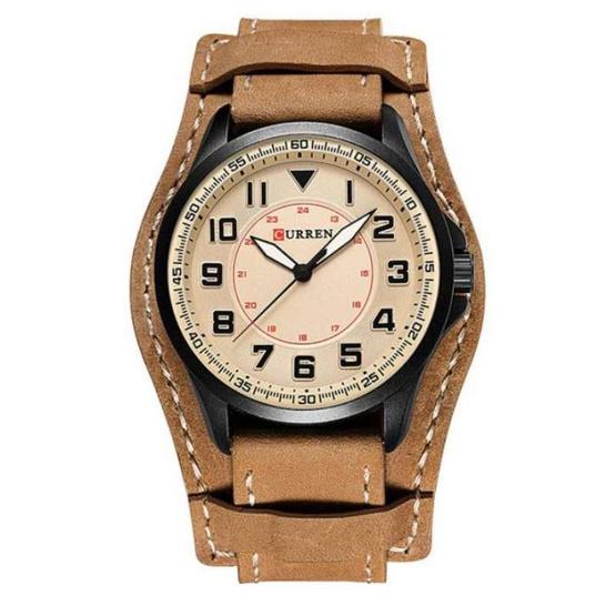 Curren นาฬิกาข้อมือผู้ชาย รุ่น C8279  น้ำตาลอ่อน