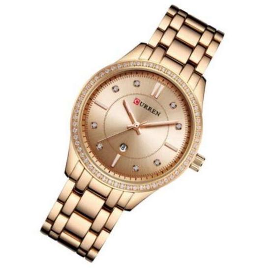 Curren นาฬิกาข้อมือผู้หญิง รุ่น C9010 โรสโกลด์