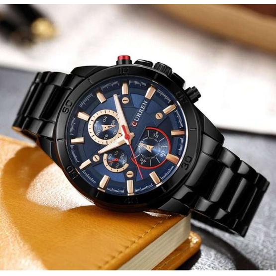 Curren นาฬิกาข้อมือผู้ชาย รุ่น C8275 ดำ/น้ำเงิน