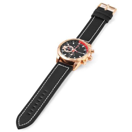 Curren นาฬิกาข้อมือผู้ชาย รุ่น C8216 ดำ/โรสโกลด์