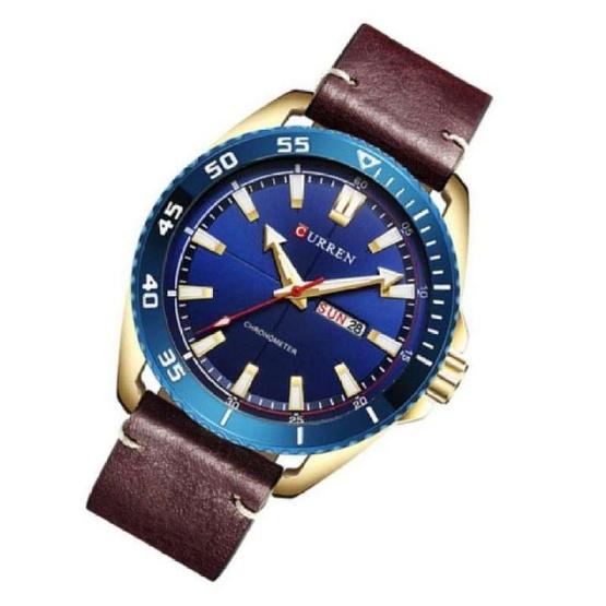 Curren นาฬิกาข้อมือผู้ชาย รุ่น C8272 ดำ/น้ำตาล