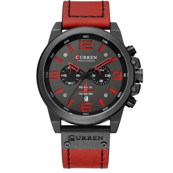 Curren นาฬิกาข้อมือผู้ชาย รุ่น C8314 แดง/ดำ