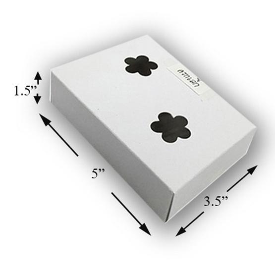 ตราสนคู่ กล่อง ชิ้น 3.5x5x1.5 นิ้ว เจาะรู (ครกเล็ก) (1 แพ็ค 100 ชิ้น)