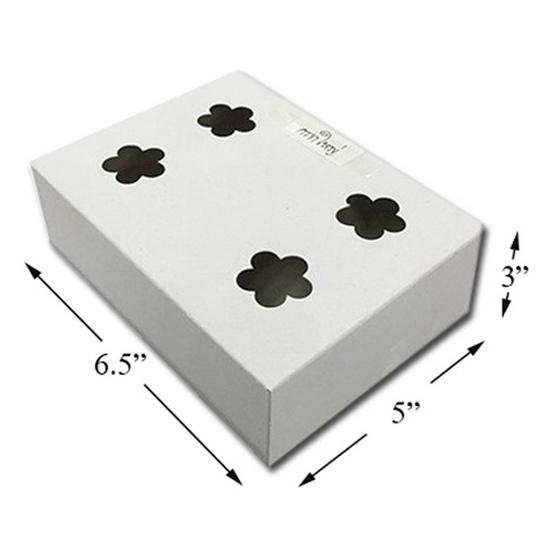 ตราสนคู่ กล่อง ชิ้น 5x6.5x3 นิ้ว เจาะรู (ครกใหญ่) สีขาว (1 แพ็ค 100 ชิ้น)