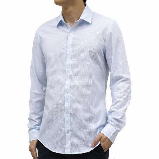 FM  เสื้อเชิ้ตแขนยาว ( MFMAI-059 ) สี WHITE