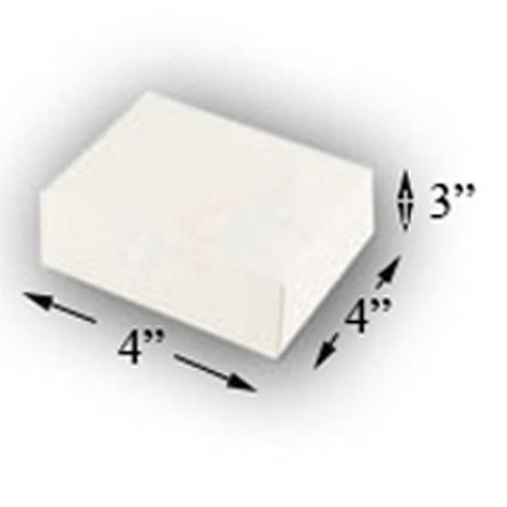 ตราสนคู่ กล่องเบเกอร์รี่ 4x4x3 นิ้ว ไม่เจาะ ขาว (1 แพ็ค 100 ชิ้น)