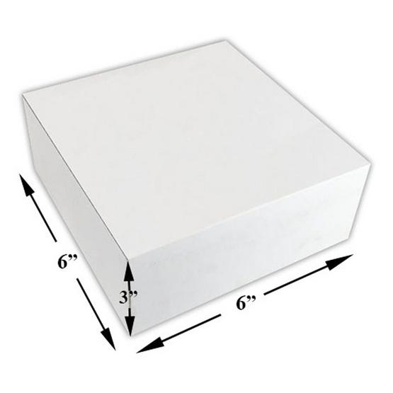 ตราสนคู่ กล่องเค้ก 0.5 ปอนด์ สูง (6x6x3 นิ้ว) ไม่เจาะ ขาว (10 ชิ้น x 5 แพ็ค)