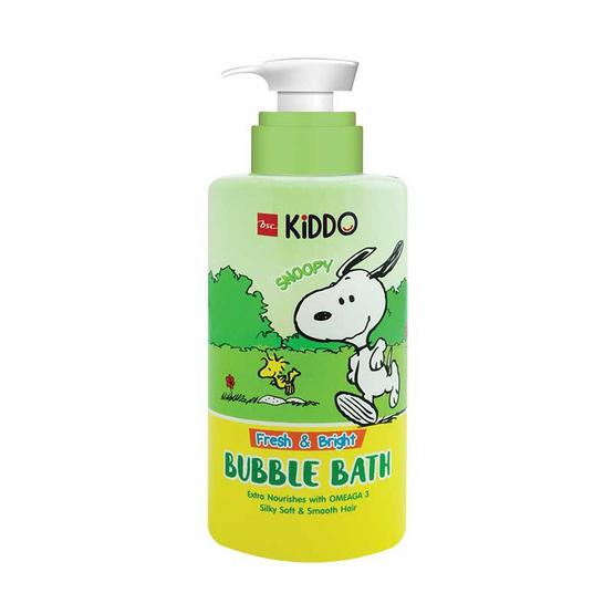 BSC KiDDO x PEANUTS ครีมอาบน้ำฟองนุ่ม เฟรช & ไบร์ท สีเขียว 400 มล.