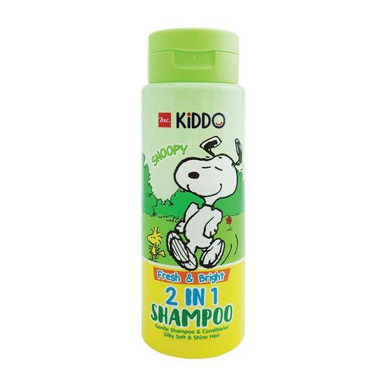 BSC KiDDO x PEANUTS แชมพู 2IN1 เฟรช & ไบร์ท สีเขียว 300 มล.
