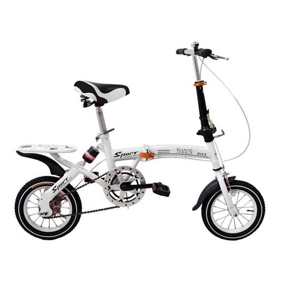 จักรยานพับได้ FOLDING BIKE 12 นิ้ว สีขาว